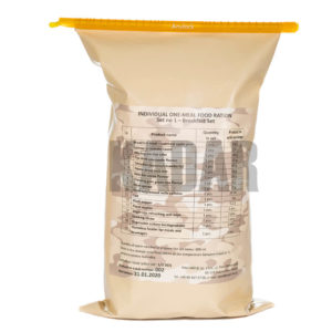Individual one-meal food ration